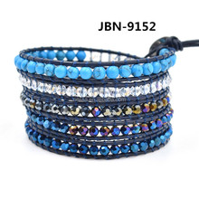 Fashion leather bracelet stone wholesale JBN-9152
