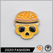 Yiwu Jewelry Plastic Enamel Hamburger Skull For Halloween Brooch Pins