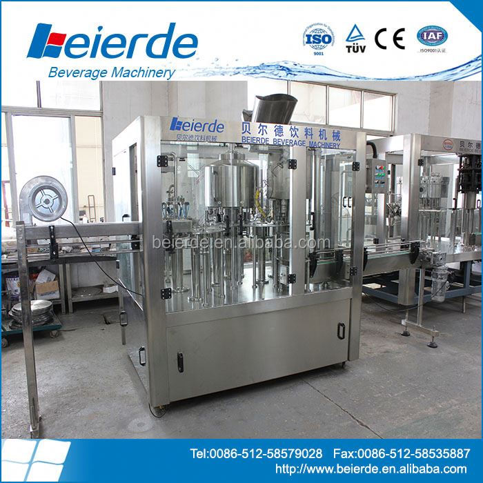 PET Bottled 3 In 1 Unit Liquid Filling Machine For Mineral/Pure Water