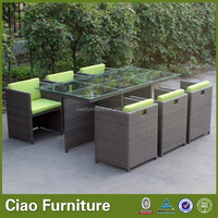 Space Saving Rattan Cube Dining Table