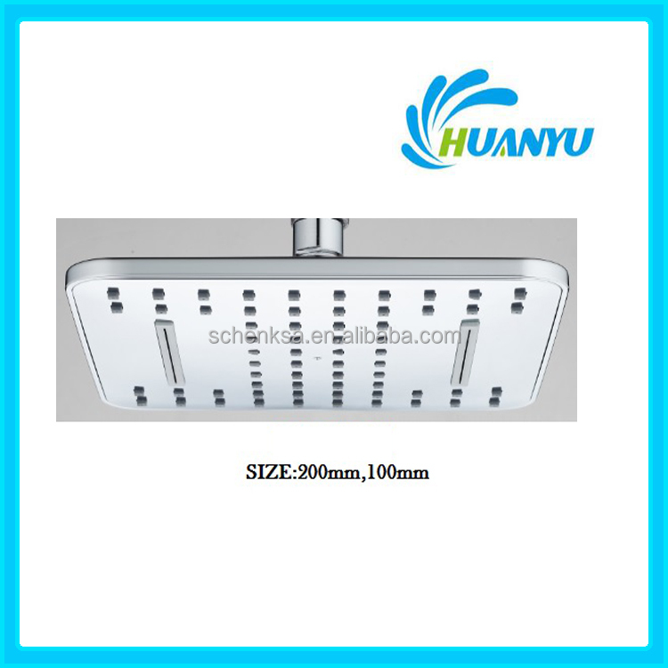 HY5001 square abs waterfall overhead shower head