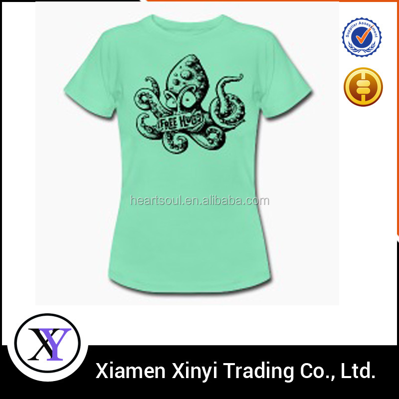 OEM services custom cheap tight fit 100% cotton women comfortable tshirts