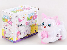 17 cm electric universal cat with light with music pink, white color no charger