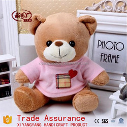 mimi plush bear toy with T-shirt /voice recording teddy bears