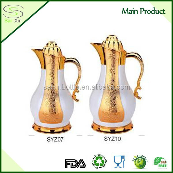 New Arabic high qulality stainless steel vacuum flask Arabic water pot Dubai thermos Arabic coffee thermos