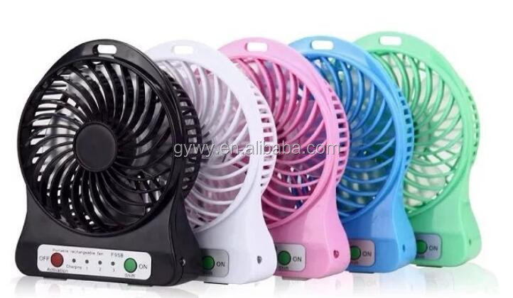 Multi-functional Portable Rechargeable Mini Handheld Desk Fan 3 Speed Modles Cool USB Fan Powered by USB