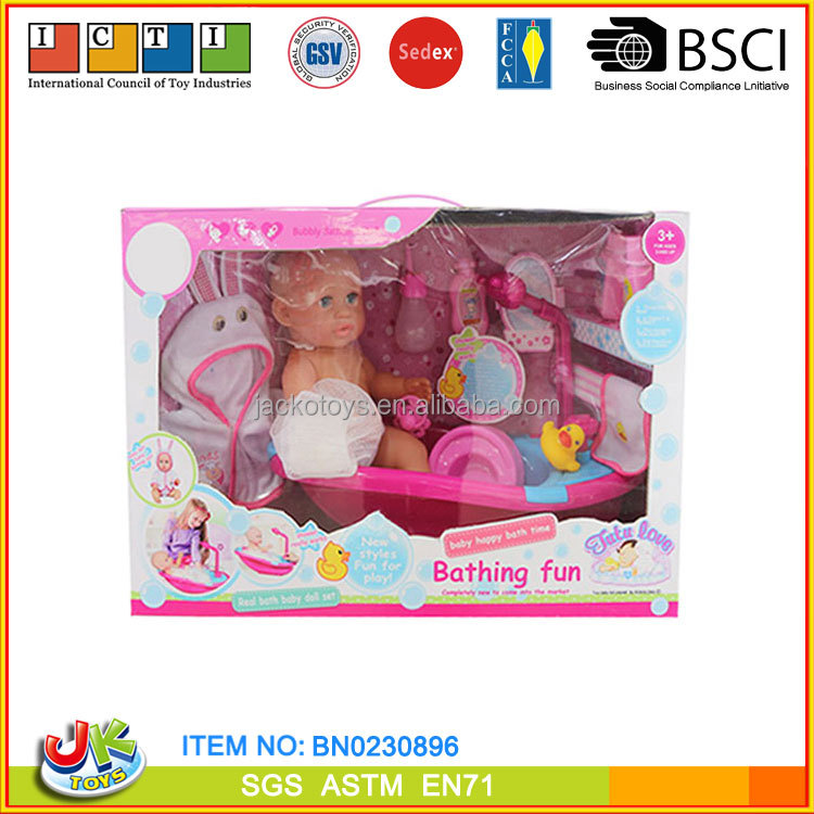 "[JK TOYS] 14"" reborn doll kits,baby bath toy set for kids"
