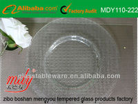 clear glass plate/ tableware