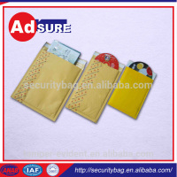 gold kraft bubble mailer/anti-static kraft bubble bag/colored bubble envelopes