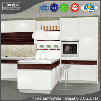 Foshan Narnia mdf kitchen cabinet laminate kitchen cabinet with drawers