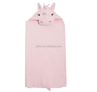 2015 hot products 100% cotton high quality baby bath hooded towel for home textile