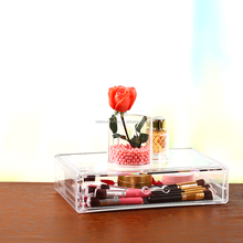 wholesale acrylic cosmetic makeup box display stand for brush lipsticks