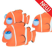 Soft plastic stress reliever toy plastic nemo fish popeyes toy