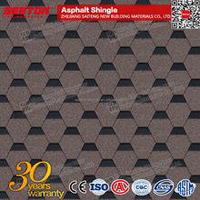 Bark Brown colorful asphalt shingles roof tile Heavy wooden house clay tiles