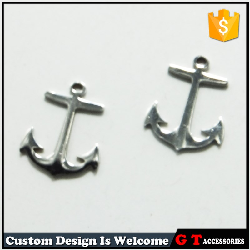 Manufacturer hot selling stainless steel anchor <strong>pendants</strong> for bracelet making