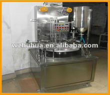 rotary type cup filling and sealing machine for cup yogurt /milk