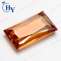 Rectangle cut champagne cz stones with factory price