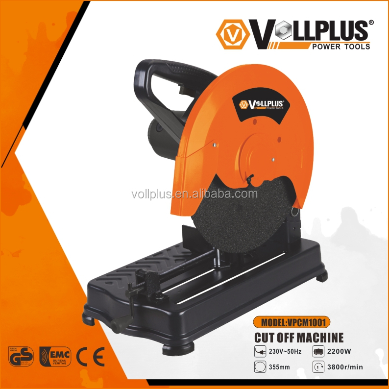 Vollplus VPCM1001 2200W 355mm high quality electric power tools metal cut-off saw cuttting machine
