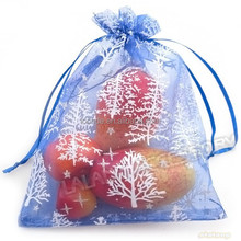 Holiday Jewelry Gift Packaging 13x18 cm christmas tree organza gift bags