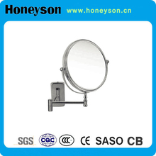 hotel room lighted bathroom folding magnifying mirror x20