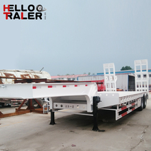 China New 3 Axle Drop Deck 60T Trailer for Transport