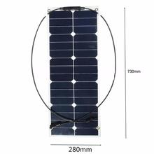 Surface material 30w Semi flexible solar panel RV solar panel roll up solar panel 12v 18v 24v 36v