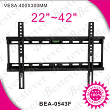 single side slim fixed flat panel tv wall mount bracket with OEM packaging