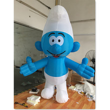 Event Outdoor Customized Inflatable Model Smurf Cartoon 2.5m For Christmas Festival Advertising A235