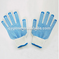 cotton lycra gloves rubber cotton dot gloves yellow cotton chore gloves