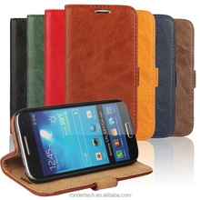 New arrivals!High Quality Tree Bark pattern flip leather cheap mobile phone cases for Samsung Galaxy S4 i950,bag for iphone 4 4s