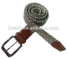 garment accessory braided elastic stretch belt