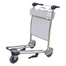 Aluminum alloy airport hand luggage carts trolley portable airport luggage trolley
