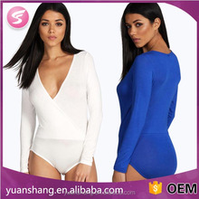 factory custom candy color long sleeve bodysuit women