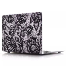 Floret Lace Pattern Hard PC Case Cover for MacBook Air 13.3(Black)