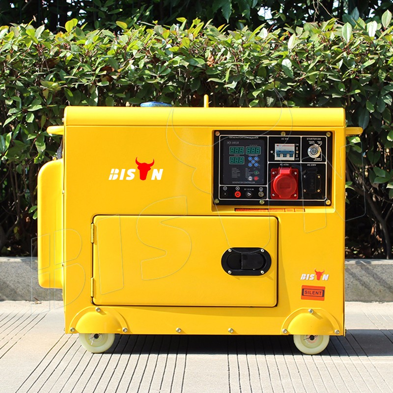 BISON(CHINA) 1 Year Warranty Silent Diesel Generator 5000w 5kw 5kva Diesel Generator China Diesel Engine Prices in India