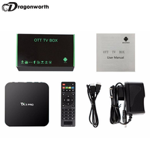 TX3 pro smart Box TV BT 4.0 mini tastiera google gioco TV BOX