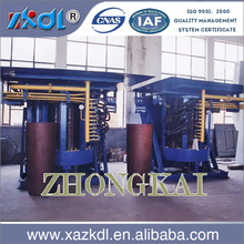 2 ton intermediate frequency induction coreless melting furnace