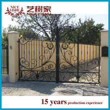2015 new models steel gate for house and garden with forge iron accessories