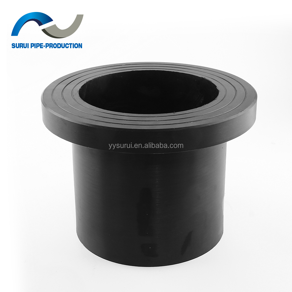 HDPE plastic pipe fittings hdpe flange butt welding stub end