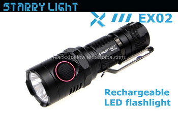 StarryLight EX02 xm-l2 u2 rechargeable led torch USB charging 18650 led torch light
