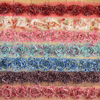 "Fashion 2.5"" Chiffon Leopard Print Shabby Trim Chic Shabby Flower Trim Free Shipping Cost by Express"