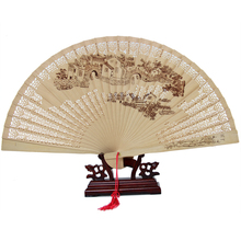 wood Craft Hand Fan for Wedding Favors GYS126