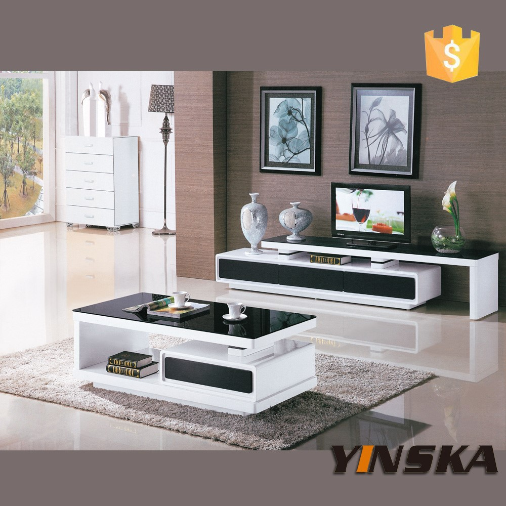 Chinese living room furniture cheap black lacquer glass tv for Glass living room furniture