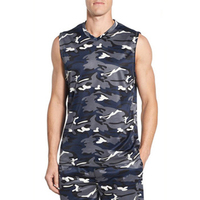 Promotional Oem Fashion Style 3D Printed Lost Souls Oversize Camo Tank T Shirt