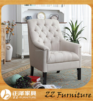 Rustic style Living room furniture set antique armchair leather