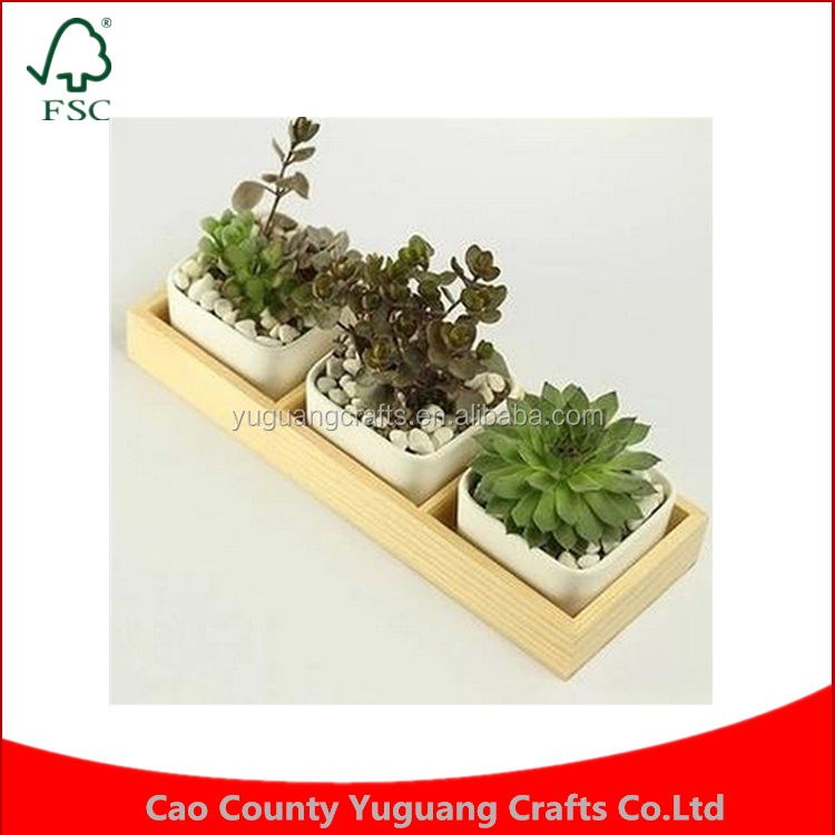 New succulents flower potted device flowerframe combination square plant pots wooden pallet