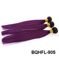 Factory Price 100% indian remy Hair One Donor ombre color machine hair weft