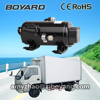 Battery Driven Type cargo van refrigeration units with boyard r134a horizontal refrigeration compressor