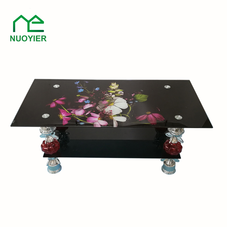 Cheap High Tempered Glass Chrome Coffee Table