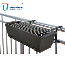 Durable Outdoor Portable Rectangular Balcony Hanging Charcoal BBQ Grill